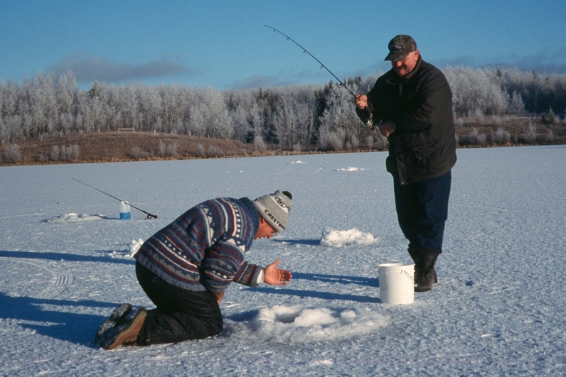 Last ice rainbows fishing article by the fishin 39 hole for Ice fishing flies