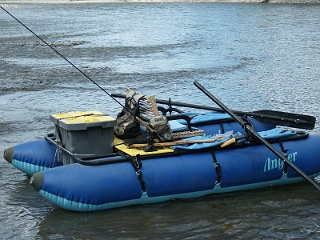 A personal pontoon boat is a one-man water craft