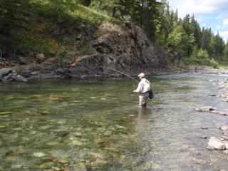 The east slope trout streams provide great fly fishing opportunities in spectacular settings
