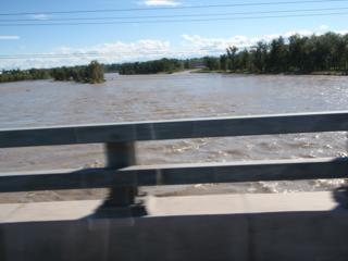 The Bow River in flood, June 2013