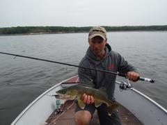 Gord Ellis with a beautiful Winninpeg River walleye