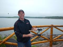 Ugly Stik product manager Michael Welsh shows off the new Ugly Stik Elite and GX2 rods