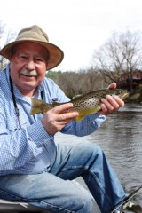 A fine Toccoa River brown trout