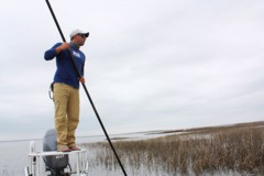 Flyfishing from a flats skiff involves an attitude adjustment