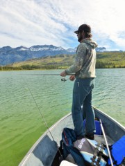 North Saskatchewan spin fishing