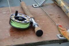 9-foot, 8-weight rods with a floating line are ideal for spring pike.