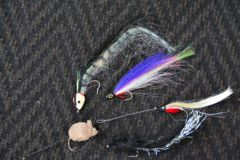 Use large flies and baitfish a third the body size of pike targeted