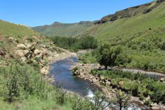 Trout stream fishing Drakenberg Mountains Africa