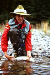 Dry fly success trout fishing