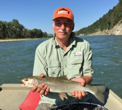 The author with a typical rainbow from the Bow