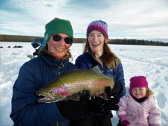 3 generations of happy girls and one huge trout!  It made for a perfect day.