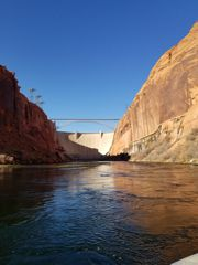 The Glen Canyon Dam provides clear cool water to this part of the Colorado River.