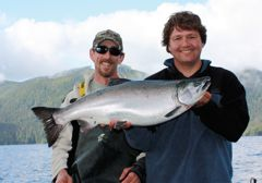 A hefty mint silver coho salmon that would make just about anybody's day.