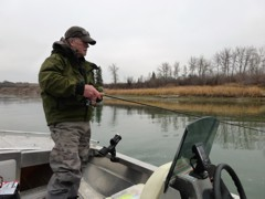 Drop a jig and minnow down and if there are walleye around, they are sure to bite