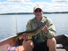 We found plenty of small pike, but the large hens eluded us.