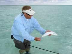 Even a small bonefish will strip off all of your fly line and many yards of backing in no time flat.