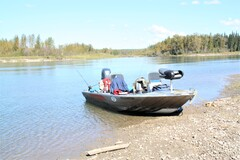 A jet boat is an effective way to fish Alberta's large and sometimes fast-moving walleye rivers