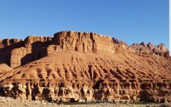 The red rock canyon walls of the Colorado River